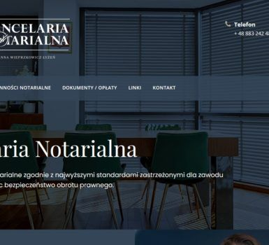 Kancelaria notarialna notariusz Joanny Wieprzkowicz – Łyżeń